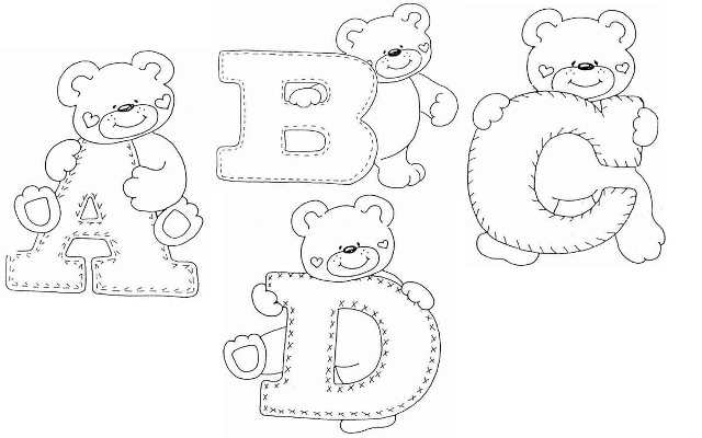 Раскраски с Буквами Английского Алфавита