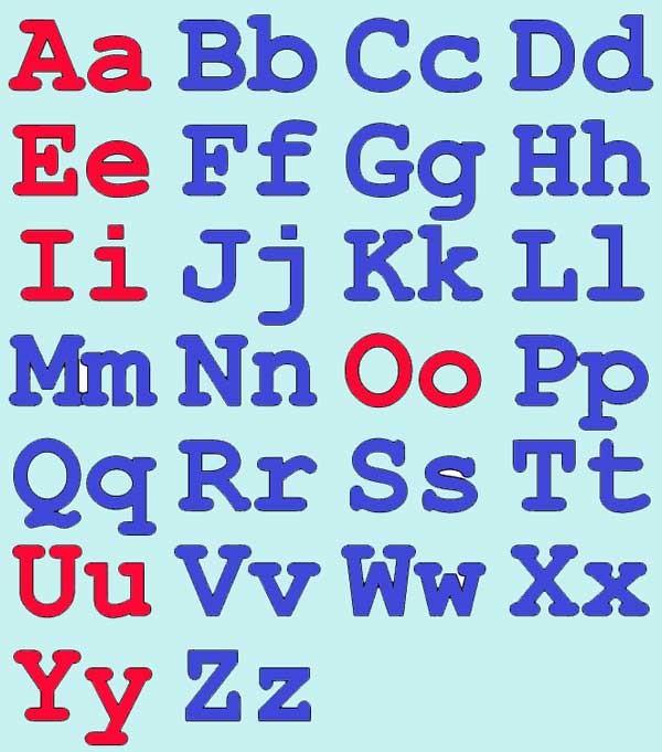 прописные буквы английского алфавита