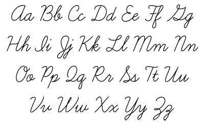 Английский алфавит: печатные и прописные буквы