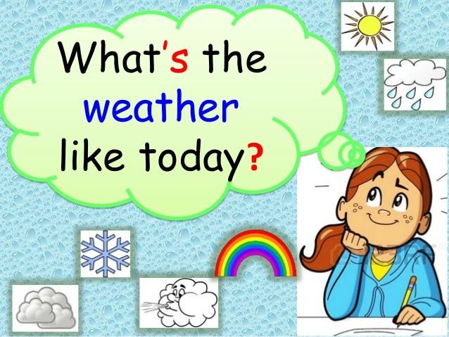 Описание погоды на английском языке с переводом