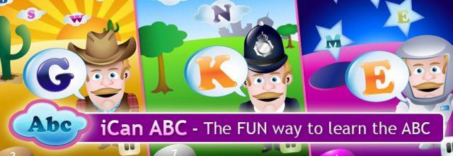 iCan ABC By Monkeybin Studios - приложения для изучения английского языка