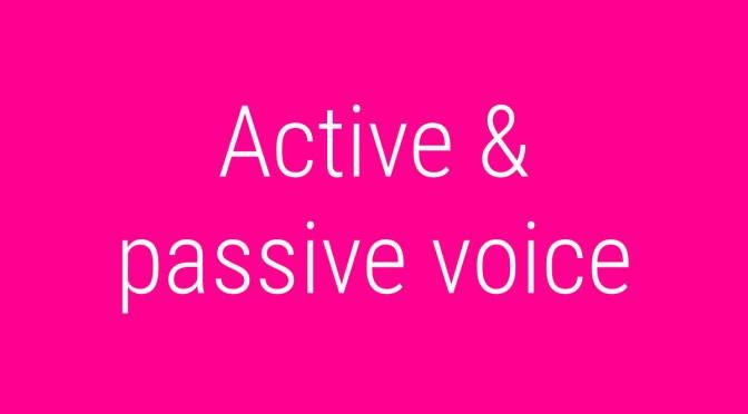 Active Voice: правила, примеры