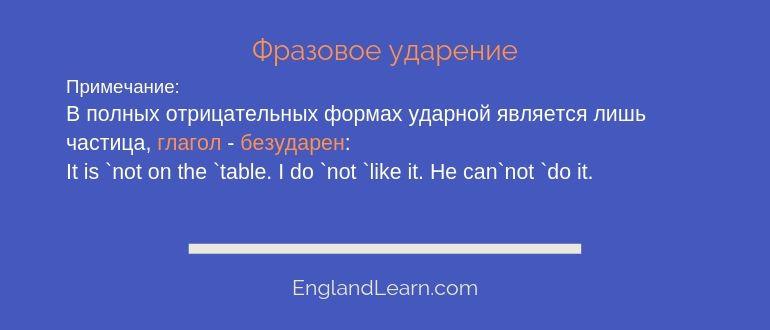 Фразовое ударение в английском языке