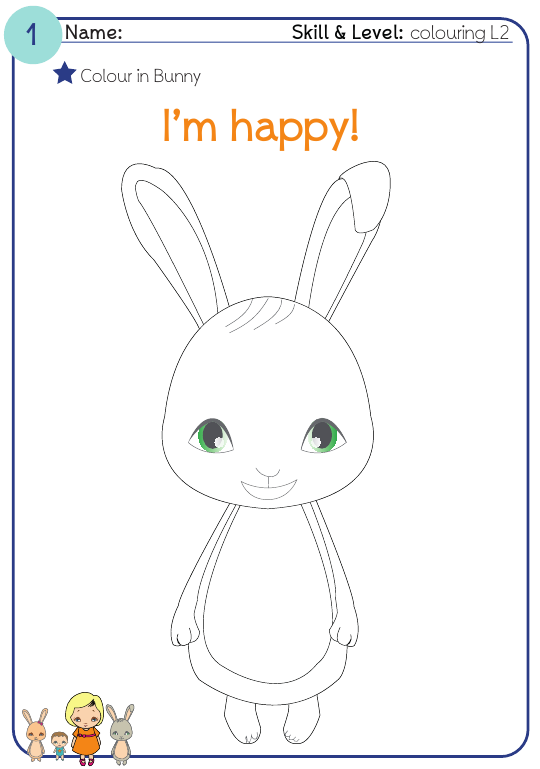 Раскраска для детей - заяц