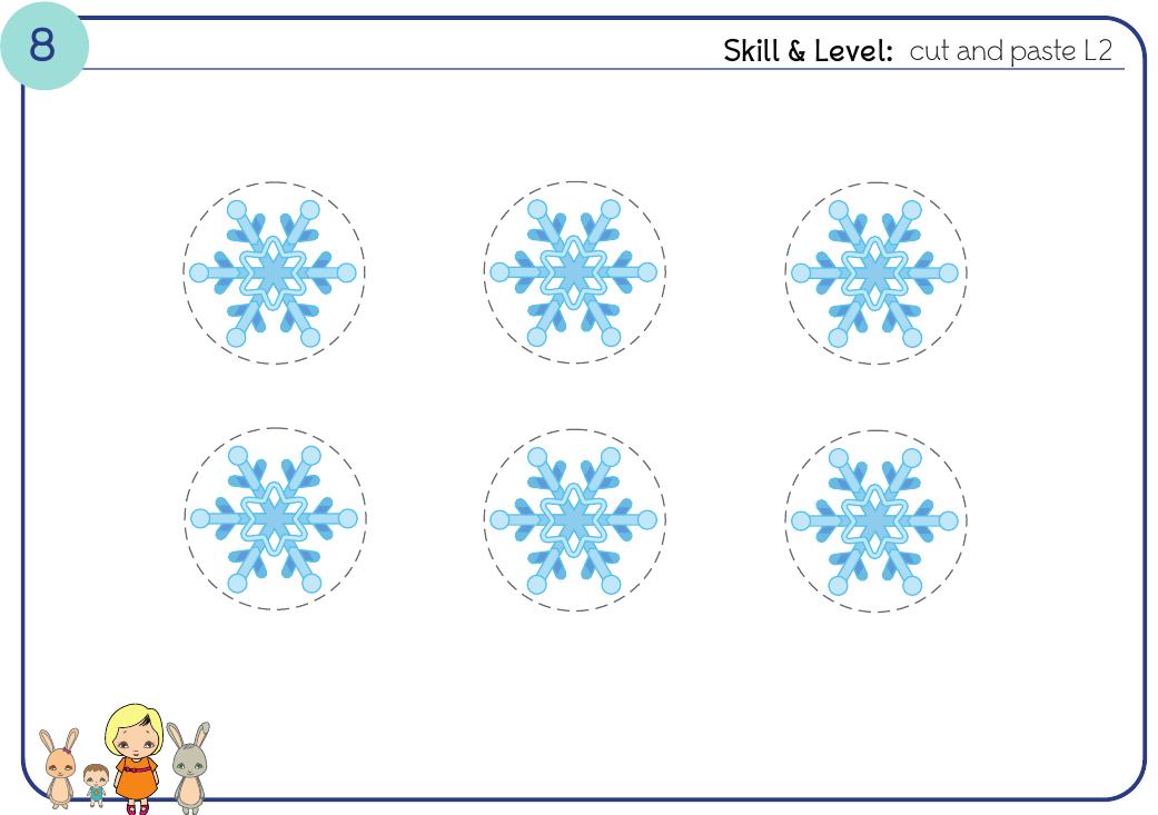 Снежинки - о погоде на английском для детей