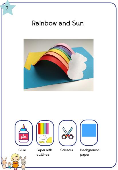 Образец Радуги из цветной бумаги
